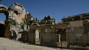 The panning of ancient amphitheater in Myra stock video