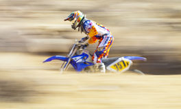 Panning Blurred Racer Royalty Free Stock Images