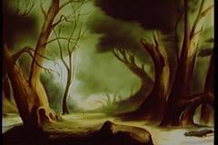 Panning cartoon forest