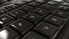 Panning Closeup of Computer Keyboard stock footage