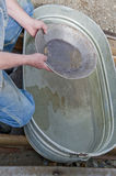 Panning for gold Stock Image