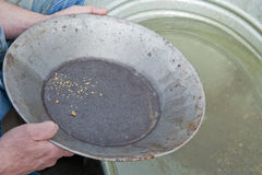 Panning for gold Stock Photo