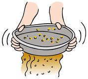 Panning for Gold royalty free illustration
