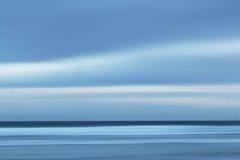 Panning morze i niebo Fotografia Royalty Free
