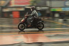 Panning motorfiets Royalty-vrije Stock Foto