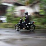 Panning motorowego cykl Fotografia Royalty Free