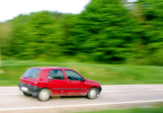 Panning old and dirty, little car Royalty Free Stock Image