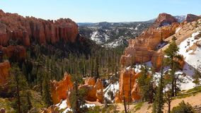 Panning over the Bryce Canyon stock footage