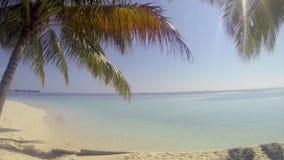 Panning over de mening over een tropisch eiland stock videobeelden