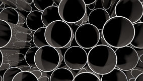 Panning over metal pipes stock footage