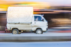 Panning photography example Stock Image