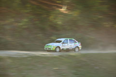 Panning of a rally car Stock Photos