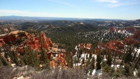Panning shot of Bryce Canyon stock video
