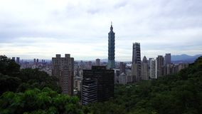 City view of Taipei, Taiwan. Panning shot of city view of Taipei, Taiwan stock video footage