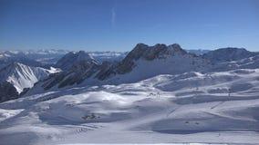Alpine ski-resort Zugspitzplatt stock video
