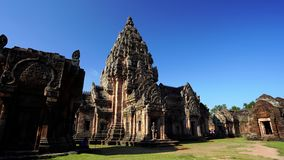 Prasat Khao Phanom Rung Historical park in Buriram, Thailand. Panning shot of Prasat Khao Phanom Rung Historical park in Buriram, Thailand stock video footage