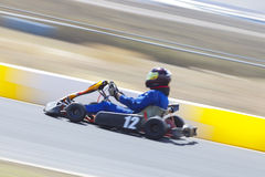 Panning Speed Go Kart Racer Royalty Free Stock Image