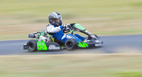 Panning Speed Youth Go Kart Racer #75 Stock Photo