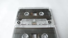Panning strzał analog magnesowe taśmy Rocznik audio kasety ścisła wolna niecka zbiory
