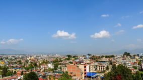 Panning time-lapse of Kathmandu in Nepal stock footage