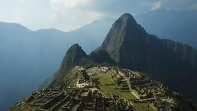 Panning time lapse of Machu Picchu