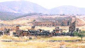 Panning widok ruiny Hierapolis zdjęcie wideo