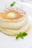 Pannkaka med icecream Royaltyfri Foto