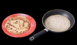 pannkakaförberedelse Arkivfoton