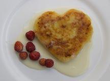 Pannkakaform av hjärta Royaltyfri Fotografi