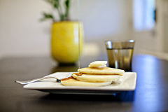 Pannkakafrukost Royaltyfria Bilder