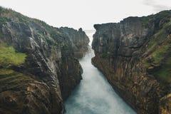 Pannkakan vaggar den långsamma slutaren i Nya Zeeland Fotografering för Bildbyråer