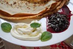 Pannkakor för frukost Royaltyfri Fotografi