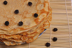 Pannkakor med blåbäret för fettisdagen Royaltyfria Foton