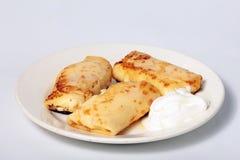 Pannkakor med ost Royaltyfri Bild