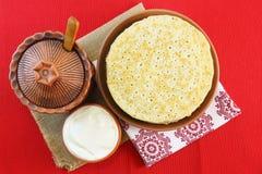 Pannkakor på pannkakavecka fotografering för bildbyråer