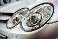 Pannlampa av en storslagen tourerbil Mercedes-Benz SLR McLaren, 2006 Royaltyfria Bilder