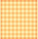 Panno arancione scozzese Fotografia Stock