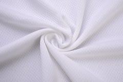Panno bianco fatto dalla fibra del cotone Fotografia Stock Libera da Diritti