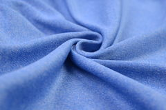 Panno blu-chiaro fatto dalla fibra del cotone Fotografia Stock Libera da Diritti