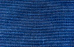 Panno blu del tessuto della lana Fotografia Stock Libera da Diritti