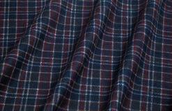 Panno caldo in una gabbia di colore blu scuro Fotografie Stock Libere da Diritti