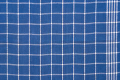 Panno checkered blu e bianco Immagine Stock