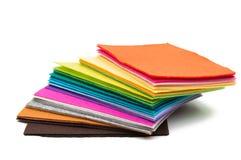Panno colorato del feltro isolato fotografie stock libere da diritti
