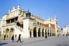 Panno Corridoio, Sukiennice a Cracovia immagini stock