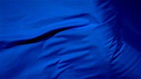 Panno d'ondeggiamento Fondo blu senza cuciture del tessuto del raso di Wave Panno di seta che fluttua nel vento Tenerezza ed aera archivi video