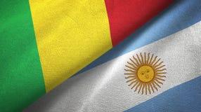 Panno del tessuto delle bandiere dell'Argentina e del Mali due, struttura del tessuto royalty illustrazione gratis