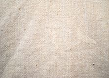 Panno di cotone beige Fotografia Stock