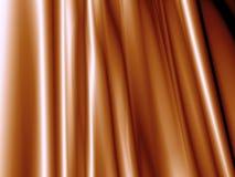 Panno di lusso del fondo marrone astratto o onda liquida del materiale di seta del raso di struttura di lerciume o della fine lus Immagini Stock Libere da Diritti