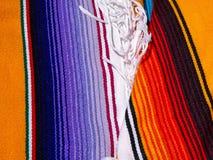 Panno festivo messicano del tessuto Fotografia Stock Libera da Diritti
