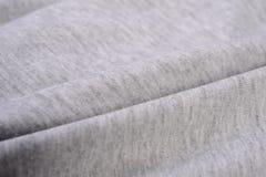 Panno grigio fatto dalla fibra del cotone Fotografia Stock